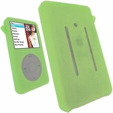 Green  Silicone Skin Cover Case For iPod Video 30GB Classic 80GB/120GB/160GB New