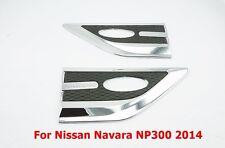 CHROME SIDE VENT FENDER COVER SIGNAL LIGHT FOR NISSAN NAVARA 2014 SET OF 2