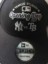 NY YANKEES OPENING DAY HAT 2017 VS TAMPA BAY NEW ERA 9FORTY CAP ADJUSTABLE SIZE