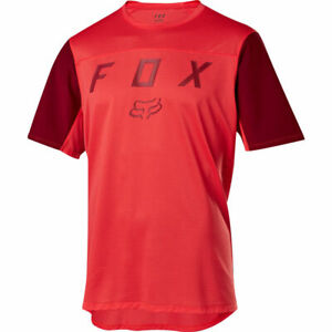 Fox Racing Flexair s/s Short Sleeve Moth Jersey Bright Red