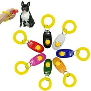 DOG PET TRAINING CLICKER / TRAINER TEACHING TOOL / DOGS/  PUPPY  CLICK TRAIN UK