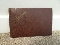 Antique 1940's Autograph Book with Doodles Poems Riddles U.S Airmen Signatures