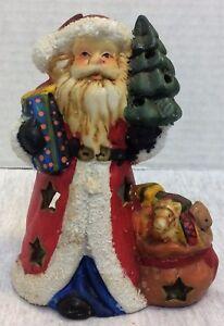 Vintage Christmas Decor Santa Claus Lantern Candle Holder For Tea Light