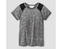 c9 Champion Girls Short Sleeve Keyhole Tech T-shirt Gray XS (4-5)