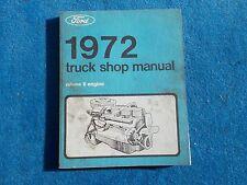 1972 Ford Truck Volume 2 Engine Gas & Diesel Repair Shop Manual Nice Used