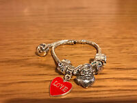 "7"" 925 SILVER CHARM BRACELET Christmas Birthday Girl Gift theme  ON SALE"