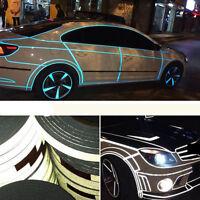 5M Car Body Reflective Stripe Warning Tape Sticker Self Adhesive Decal Safety