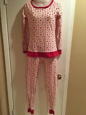 Comfy JASMINE & GINGER Women's pajama set Stretch Legging Sz S Slim Fit 💋print