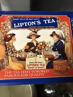 VTG Metal Tin Lipton's Tea Nostalgic Limited Edition Tin Collection  #401 8x6x3