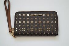 NEW MICHAEL KORS JET SET TRAVEL LG FLAT MF PHN CASE Zip Wallet 32T6GTVE9U $128