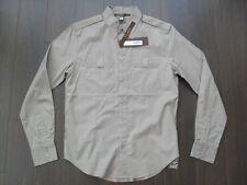 NWT Roberto Cavalli CLASS Casual Button Shirt Khaki sz. 50 $400+