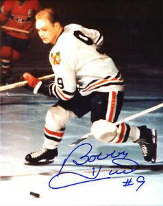 Bobby Hull Chicago Blackhawks HOF Autograph Signed 8 x 10 Photo Auto with COA