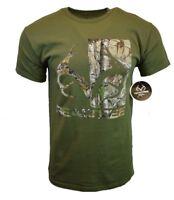 REALTREE Mens Tee T Shirt M L XL Deer American Fishing USA Logo Hunting Camo NEW