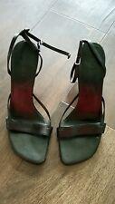 Aldo ladies black heal strappy shoes size 5