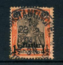 1900 - GERMANIA LEVANTE - LOTTO/20823 - 1,5 SU 30p. ARANCIO NERO - USATO