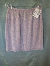 Casual Corner Wrap Skirt Size 8 NWT Pastel Purple Romantic Sheer Lined NEW