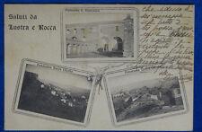 SALUTI DA LUSTRA e ROCCA Vedute Floreale viaggiata 1937  f/p #20181