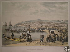 GERMAN AMERICAN HEINE JAPAN COMMODORE PERRY EXPEDITION 1856 GORAHAMA LANDING