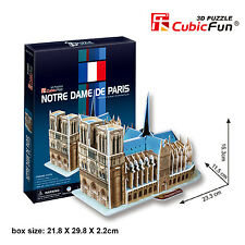 New Notre Dame De Paris 3D Paper Toy Model Jigsaw Puzzle 40 Pieces C717H
