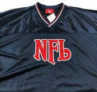 New NFL Adult One Size Short Sleeve Jersey Shirt Blue Red White V Neck Game Day