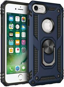 For Iphone 7Plus & iPhone 8Plus Case Kickstand Shockproof Ring Holder Hard Cover