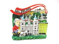 Salzburg Mozart Festung 3D Poly Fridge Magnet Souvenir Österreich