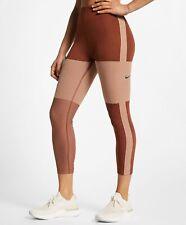 Nike TECH PACK Running Crop Tight Small Womens Rose Gold AQ5343 250