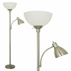 Stella Floor Lamp By Light Accents with Side Reading Light Model 6185-72