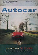 Autocar magazine 13/4/1962 featuring Aston Martin DB4 GT Zagato road test