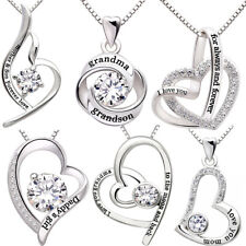 I Love You For Always and Forever Necklace, 925 Sterling Silver, Gift for her