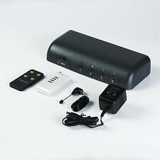 4 Inputs 1 Output HD/SD Component Video Audio Switcher + IR Remote Cantrol