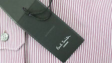 Paul Smith Shirt Size 16.5 LARGE SLIM FIT Sky Blue Poka Dots