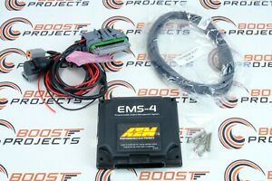 AEM EMS-4 Programmable Engine Management System w/ Plug & Pin Kit Custom Harness