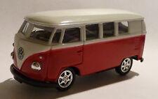 VW Bus (1962) camionnette t1 rouge voiture miniature 1:60 Métal Moulage article neuf de Welly!
