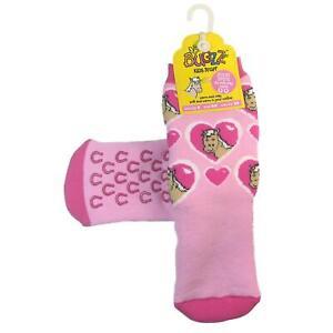 Promo Bugzz Pony Socks Childrens Toddlers Non-Slip Wellie Boot Slipper Socks