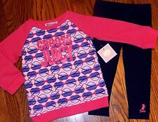 JUICY COUTURE AUTHENTIC BABY GIRLS BRAND NEW 2Pc DRESS LEGGING SET Sz 3-6M, NWT