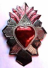 Large Tin Oaxacan Heart Milagro #1037