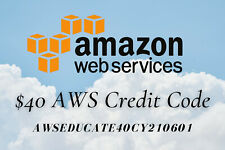 AWS $40 Amazon Web Services Credit Code Lightsail EC2 New Event  AWSEducate40CY2