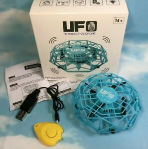 UFO Interactive Drone Hand Operated Mini UFO Obstacle Avoidance Flying Ball Blue
