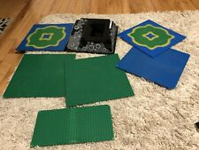 Lot Of 7 Vintage Lego Raised Base Plate 32X32  Blue Green Black Castle Jungle