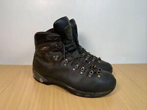 Asolo Men's Black Leather Hiking Walking Boots Size UK 10.5 EUR 45