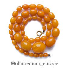 Butterscotch Naturel, ambre Jaune Collier Olive véritable real necklace 25,9g
