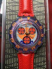 Swatch Aqua Chrono RED HARBOUR (SBG100)-Originale+NUOVO!+batteria-22 jewels-L@@K