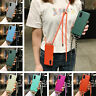 For Samsung Galaxy S20 S10 Plus A51 A71 Colorful Soft Lanyard Case Clear Cover