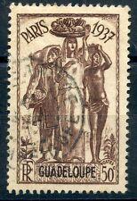 TIMBRE  COLONIES FRANCAISES GUADELOUPE OBLITERE N° 136  EXPOSITION PARIS 1937