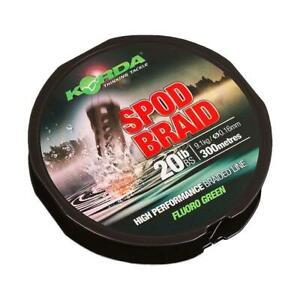 Korda Spod Spomb Braid Fluoro Green 20lb 300m