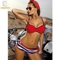 bd0f38a0c016 Sexy Women Set Push-Up Brazilian Swimwear Beachwear Swimsuit Plain ...