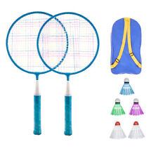 UK Kids Badminton Beginner Set Rackets & Shuttlecock & Bag 2 Player Lightweight