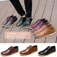New European Style Men's Leather Business Oxfords Casual Lace Up Dress Shoes