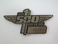 2016 Indianapolis 500 Silver Pit Badge #4064 Alexander Rossi Andretti Autosport